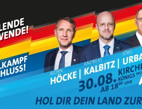 AfD-Wahlkampfabschluss in KW