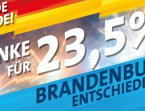 Ergebnisse LTW 2019 in Brandenburg